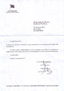Lettera risposta Barreca