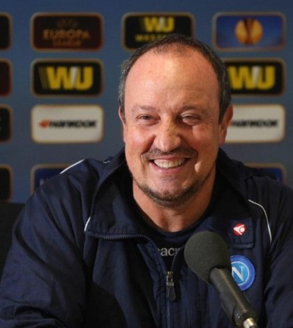 Rafa Benitez in conferenza Europa League