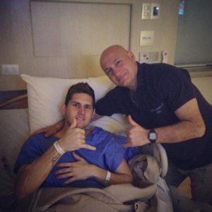 Rafael Cabral, il portiere del Napoli dopo l'operazione al ginocchio