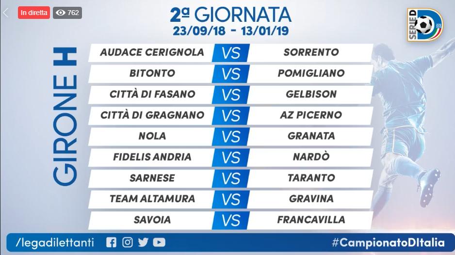 Calendario Serie D Girone H.Serie D Inizia L Avventura Delle Campane I Calendari Dei